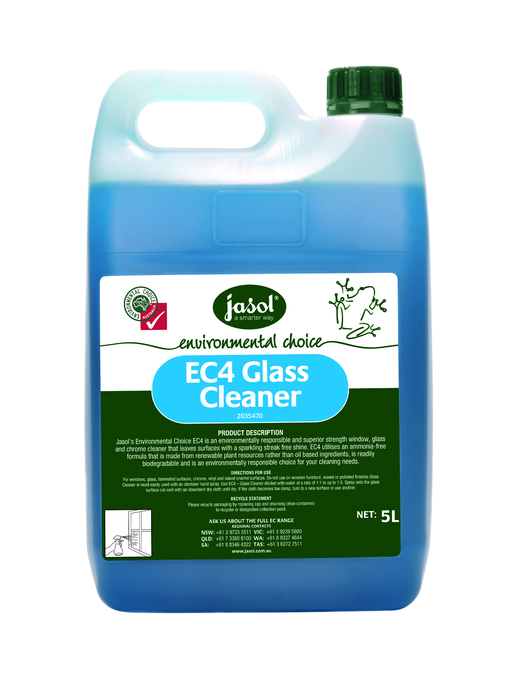 Ec4 glass cleaner for Window cleaner